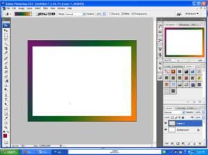 warna di bingkainya dengan menggunakan gradient tool. Warnakan dengan ...